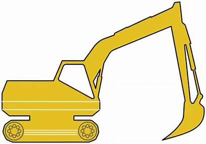 Excavator Clipart Yellow Icon Svg Working Transparent