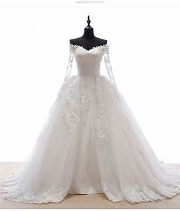 Hot selling sweetheart neck long sleeve lace appliques for Long sleeve sweetheart neckline wedding dress
