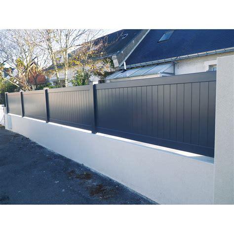 plaque alu pour cuisine clôture aluminium pontivy naterial blanc h 80 x l 200 cm