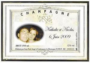 Etiquette Champagne Mariage : etiquettes de champagne gratuites a imprimer ee12 jornalagora ~ Teatrodelosmanantiales.com Idées de Décoration