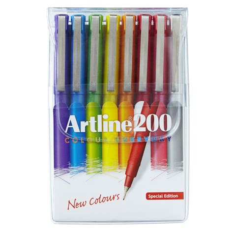 artline  fineliner pens assorted brights  pack