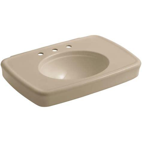 home depot kohler bancroft pedestal sink kohler bancroft 30 3 8 in ceramic pedestal sink basin in