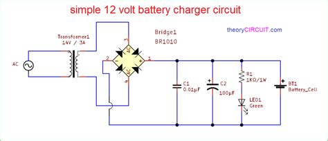 Simple Volt Battery Charger Circuit Diagram