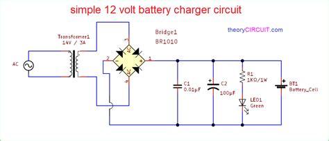simple  volt battery charger circuit diagram