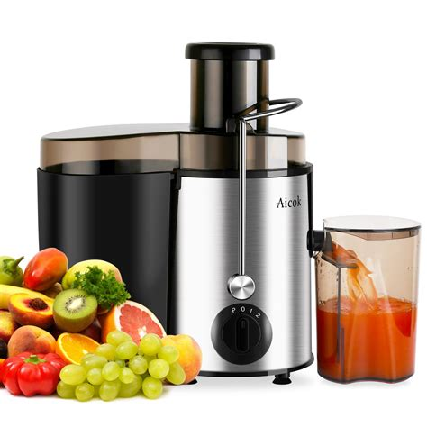 juicer juice aicok fruit power whole extractor professional amazon centrifugal 400w jug brush cleaning stainless steel