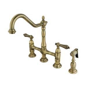 retro kitchen faucet shop elements of design vintage brass 2 handle high arc