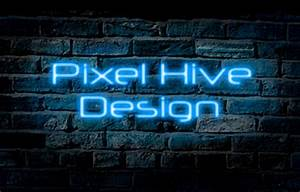 shop Text Effects Neon Sign on a Textured Surface