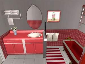 De afkb cuisine repeinte en beige idee deco chambre for Carrelage salle de bain rouge et gris