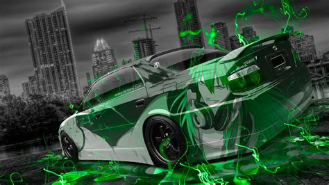Jdm archives downloadwallpaper download wallpaper stickers, style, jdm full hd rainbow roses (40 wallpapers). Toyota Chaser JZX100 JDM Anime Aerography City Car 2015 ...