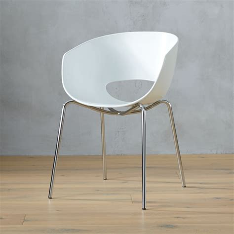 orbit white arm chair cb