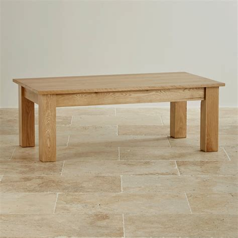 solid oak coffee table natural solid oak minimalist coffee table by oak furniture