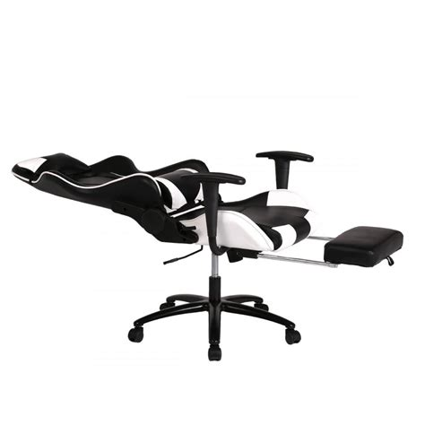 white office chair high  computer racing gaming chair