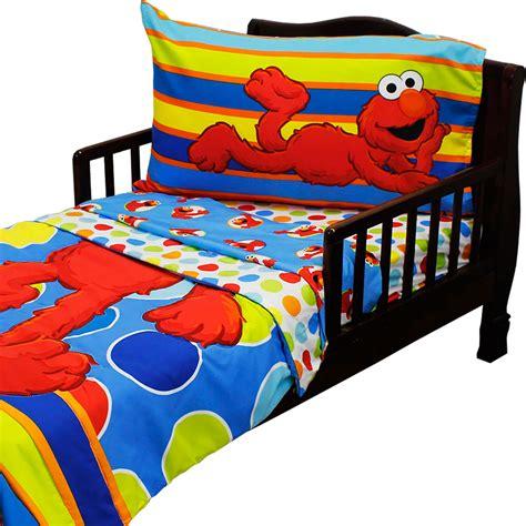 pc sesame street toddler bedding set elmo polka dots