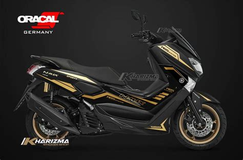 Nmax 2018 Black Matte by Stiker Nmax Gold Cutting Sticker Nmax Hitam 2018 Harga