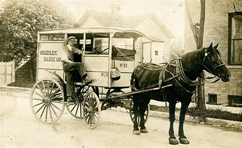 Horse-drawn Milk Delivery Truck