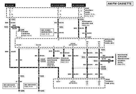 Mercury Stereo Wiring Diagram by 1998 Mercury Mountaineer Fuel Wiring Diagram Wiring Data