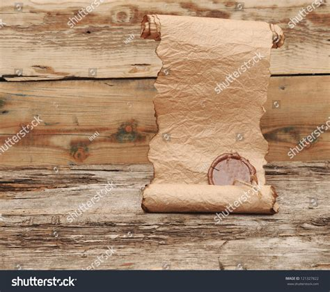 how to seal wood table ancient scroll wax seal on wooden stock photo 121327822