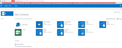 Office 365 Portal Url by Sharepoint I Create A Channel In Office 365