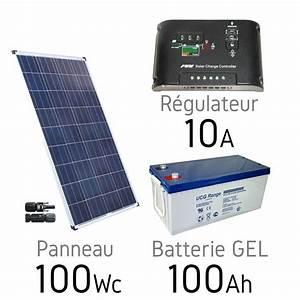 Régulateur Pour Panneau Solaire : kit solaire photovoltaique 12v 100wc batterie gel 100ah uc ~ Medecine-chirurgie-esthetiques.com Avis de Voitures