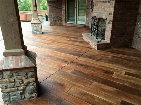 Stained Concrete Wood Fort Wayne, Indiana   Supremecrete