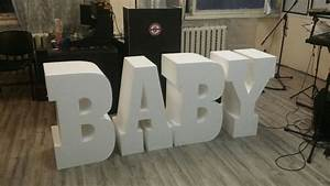Baby letters set of 4 giant styrofoam letter table base for Foam letter table base