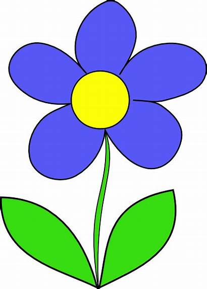Flower Clip Clipart Flowers Blooming Plant Simple
