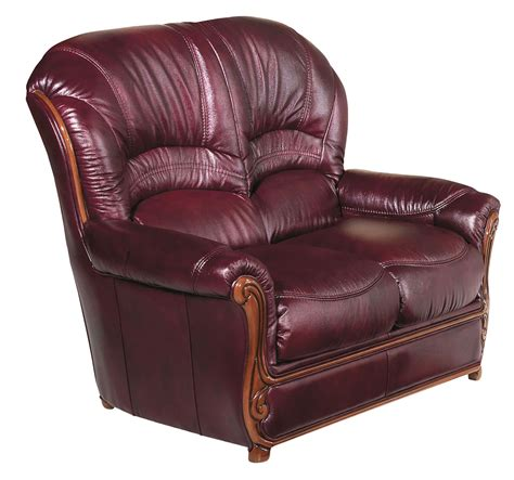 traditional leather loveseat burgundy traditional leather loveseat with wood accents