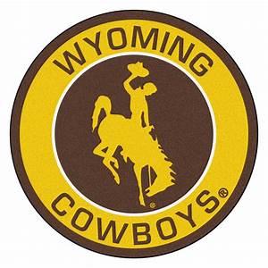 """University of Wyoming Cowboys Logo Roundel Mat - 27"""""""