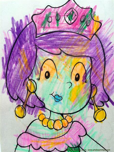 coloring   linesits    kids phebe
