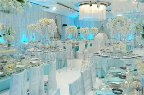 Glamorous Icy Blue Reception