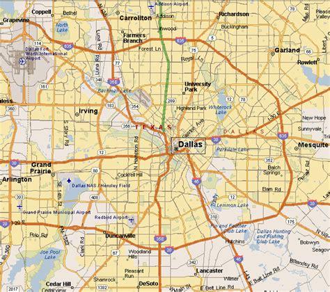 awesome map  dallas texas travelsmaps dallas map