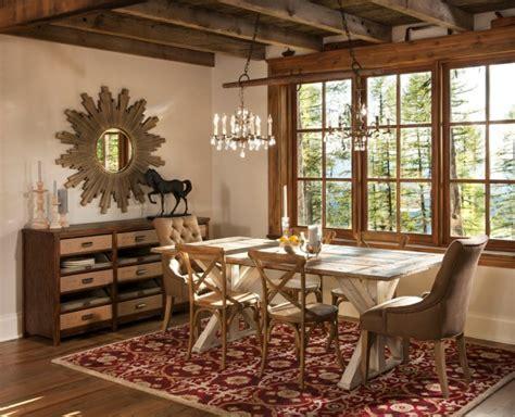 elegant rustic dining room interior designs   winter season