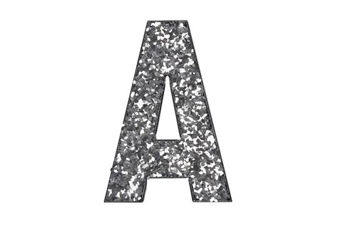 glitter letters   silver