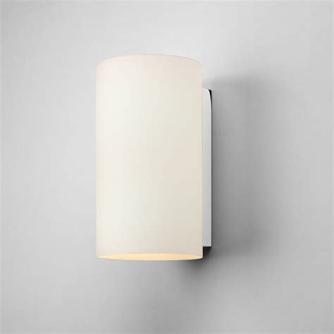 ax0883 cyl 200 white opal glass wall light with polished chrome astro 0883 interior wall light