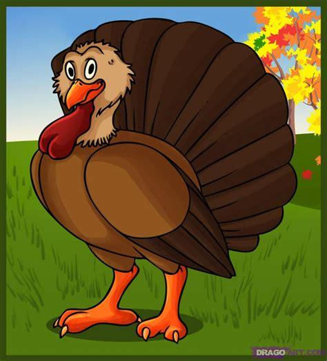 draw  cartoon turkey step  step cartoon