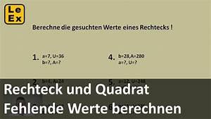 R Und V Kfz Versicherung Berechnen : rechteck und quadrat fehlende werte berechnen bung ~ Themetempest.com Abrechnung