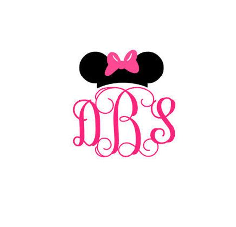 minnie mouse monogram minnie mickey mouse decal minnie mickey from