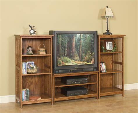 mission entertainment center bookcase