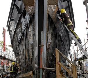 Inside the burnt-out hull of the Cutty Sark | Daily Mail ...