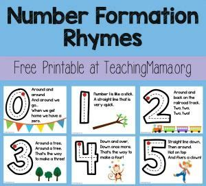 number formation rhymes number formation number  math