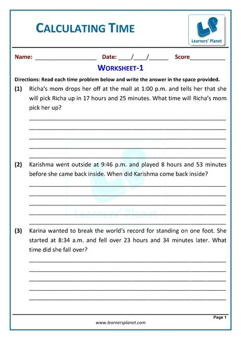 telling time worksheets   grade