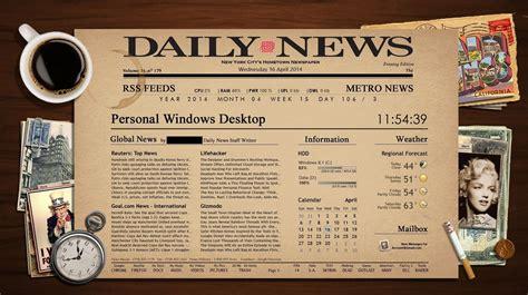 Newspaper Theme Newspaper Rainmeter Theme By Dyiddo On Deviantart