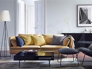 Décoration Salon Jaune Moutarde : quelles couleurs associer dans mon salon elle d coration ~ Melissatoandfro.com Idées de Décoration