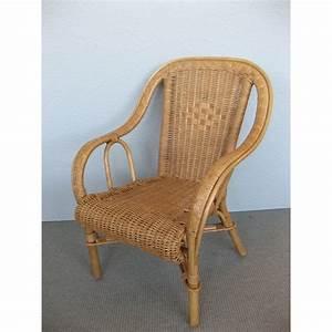 Fauteuil Rotin Enfant : fauteuil d 39 enfant en rotin basile en coloris noisette ~ Teatrodelosmanantiales.com Idées de Décoration