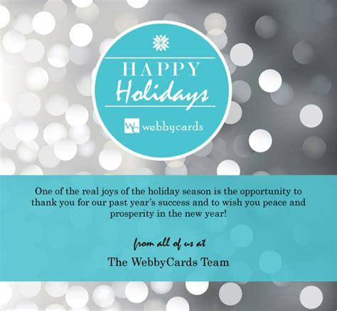 Silver Holiday Bokeh Lights Corporate Custom Holiday Ecard