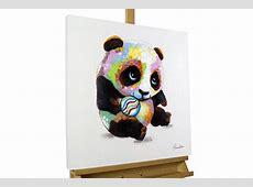 Modernes AcrylGemälde mit süßem Pandabär KunstLoft