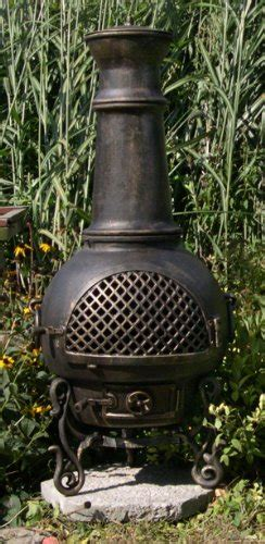 Gatsby Chiminea by The Blue Rooster Gatsby Chiminea In Gold Accent Best Prices