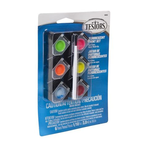 testors 0 10 oz 6 color acrylic paint pod set fluorescent