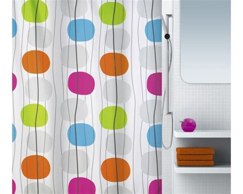 rideau de douche spirella textile mobile multicolore