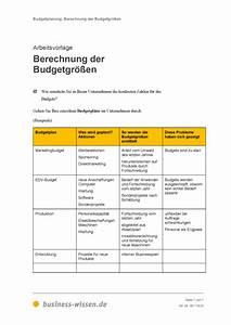 Essen Berechnen : budgetgr en berechnen vorlage business ~ Themetempest.com Abrechnung